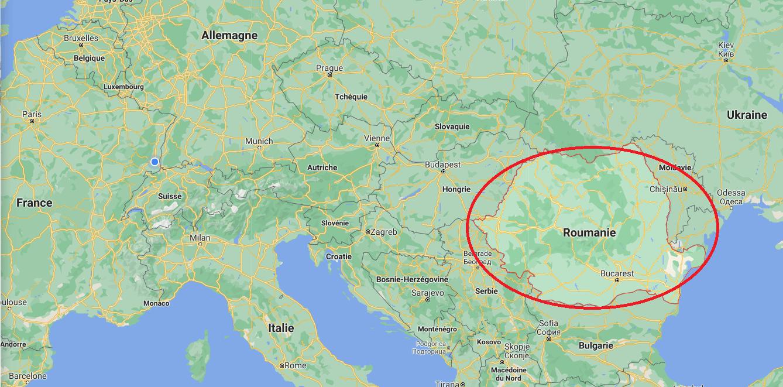 investir en Roumanie - carte