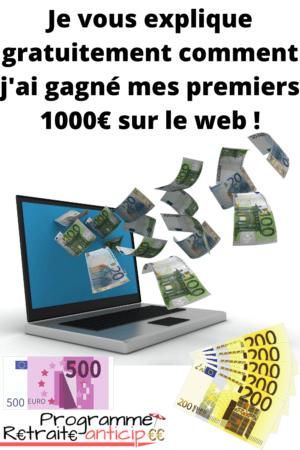 gagner 1000 euros sur Internet pour son année sabbatique
