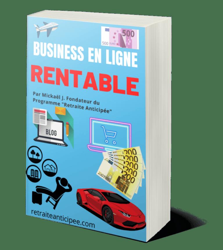 Business en ligne rentable et cash flow positif