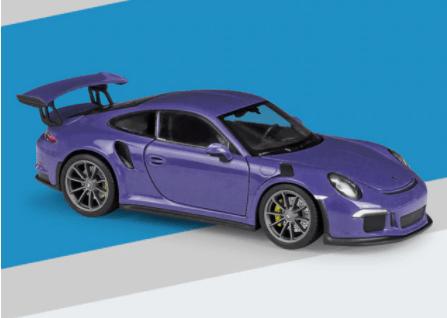 Porsche 911 GT3 RS miniature violette