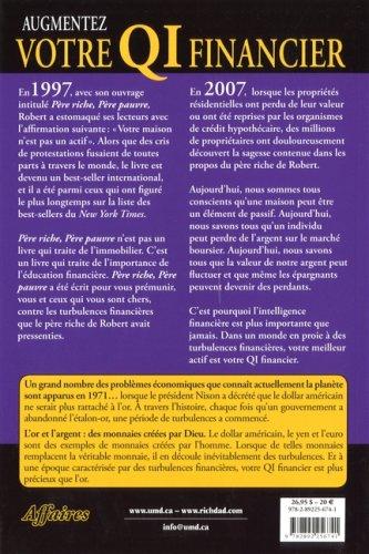 Augmentez votre intelligence financière - Robert Kiyosaki - 4ème de couverture